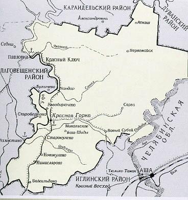 карта Нуримановского района до